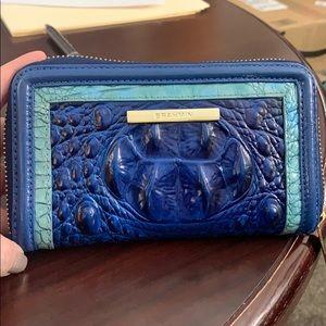 Genuine Brahmin Riley Sapphire Argan Wallet